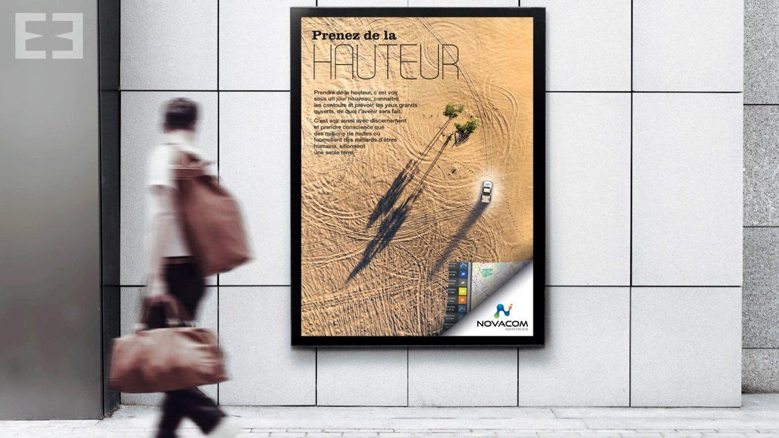 affiche métro novacom