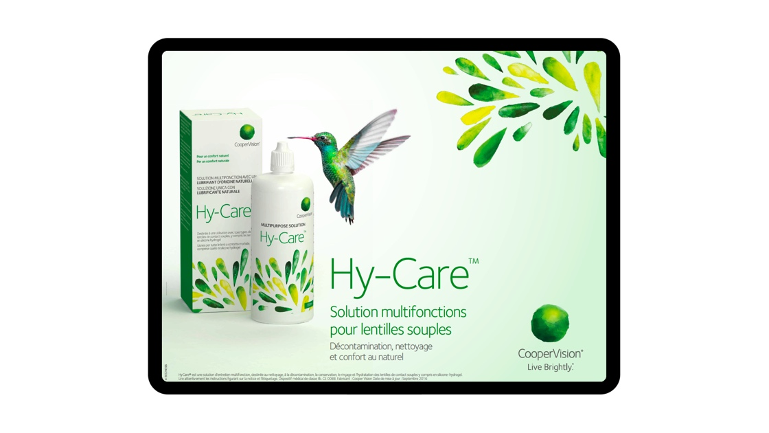 aide de vente digitale Hycare CooperVision