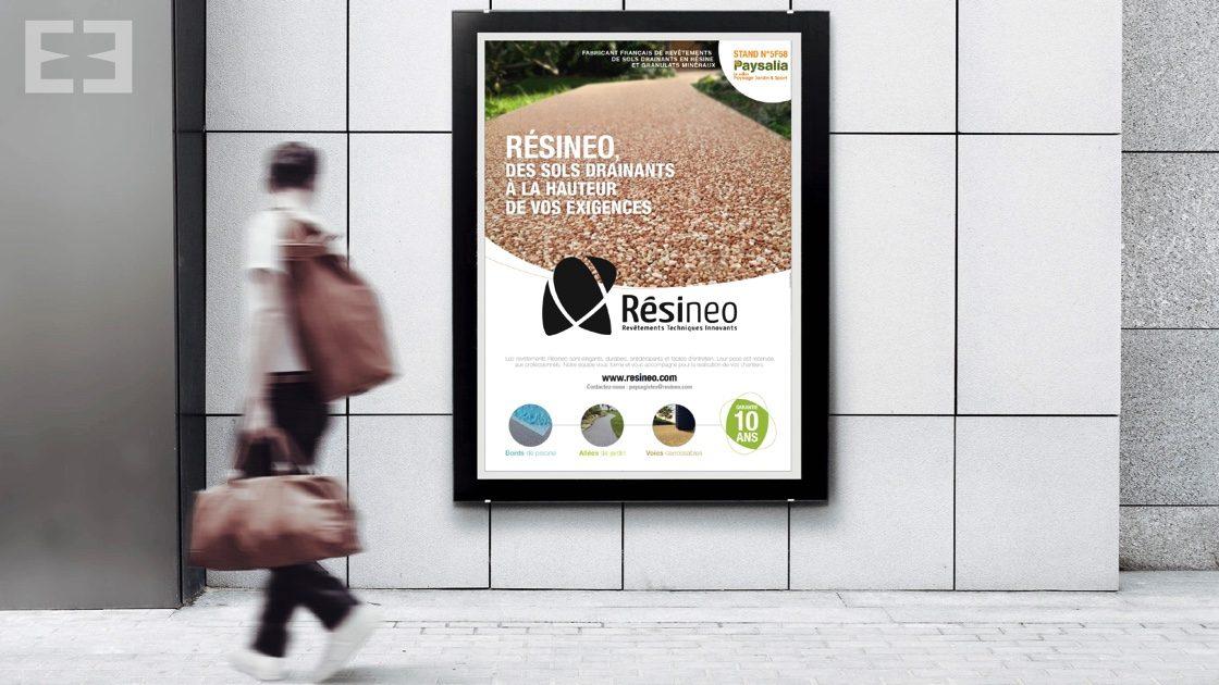 poster campagne de presse résinéo