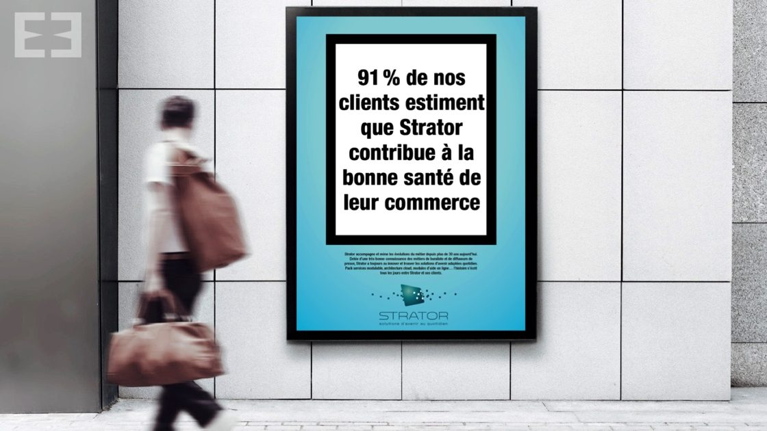 affiche métro strator